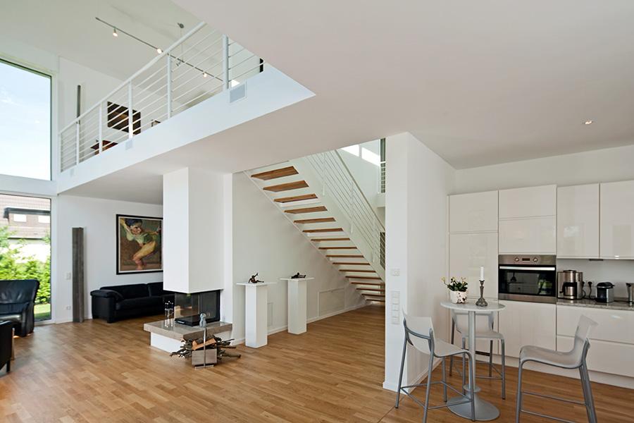 Kundenhaus familie jonas zaunm ller massivhaus gmbh - Haus mit galerie im wohnzimmer ...