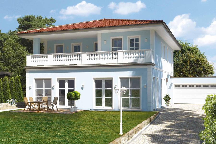 Kundenhaus familie berger zaunm ller massivhaus gmbh for Klassische villenarchitektur