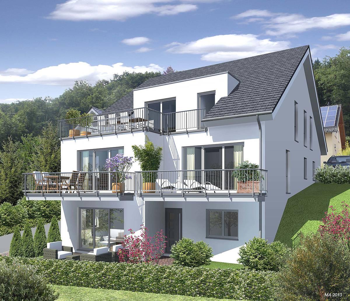 neubau 4 familienhaus in engelskirchen zaunm ller. Black Bedroom Furniture Sets. Home Design Ideas